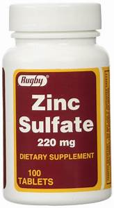 Zinc Sulfate Supplement Mckesson Brand 220 Mg Strength Tablet  U0026 39  U0026 39 Bottle Of 100 U0026 39  U0026 39