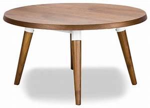 Copine Walnut Round Coffee Table - Modern - Coffee Tables