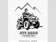 Atv Quad Bike Stylized Silhouette Vector Stock Vector