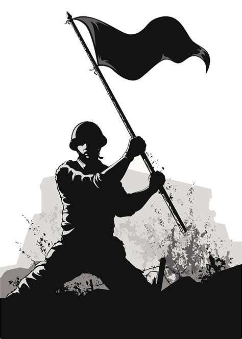Click on open to import a svg file in the editor. Soldier Army Euclidean vector - Army PPT soldier black and ...