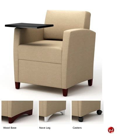 lounge chair with desk arm the office leader integra tria reception lounge lobby