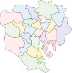無料イラスト 東京23区 地図