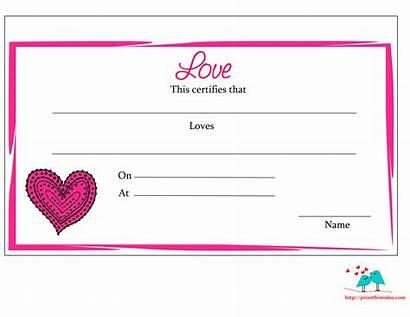 Printable Boyfriend Certificate Certificates Girlfriend Border Printables