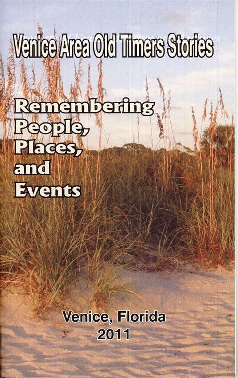 venice area  timers stories remembering people places