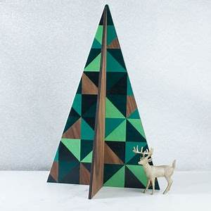 large geometric christmas tree decoration by create gift