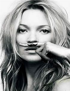 "Kate Moss, ""Life is a Joke"" Mustache Print Art Prints"