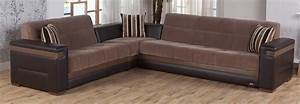 moon modern sectional sofa bed in troya brown color With moon sectional sofa bed