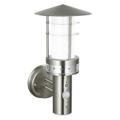 endon 13924 pogoda pir outdoor wall light in stainless
