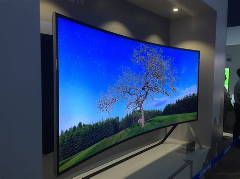 future technology display samsung led ces flat curved coming january vegas las clear