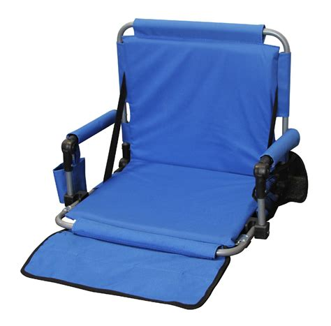 northwest territory padded stadium arm chair blue