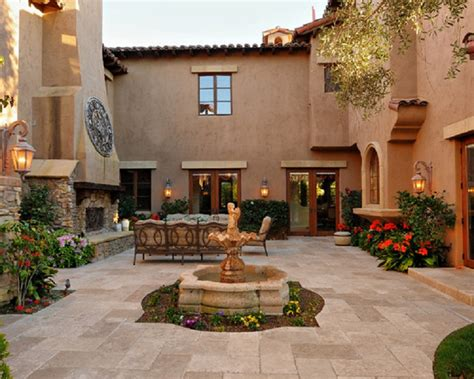Spanish Style House Plans With Central Courtyard-house