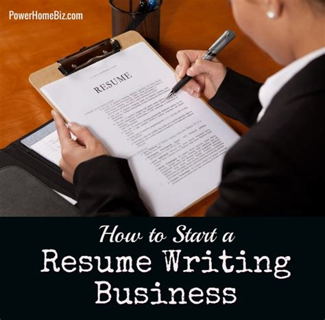 Resume Writing Business by Business Idea Starting A Resume Writing Service
