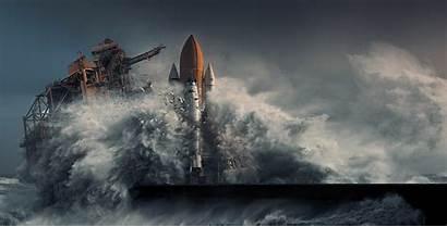 Canaveral Shuttle Space Storm Cape Landscape Apocalyptic
