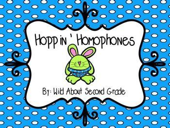 hoppin homophones games centers worksheet  images