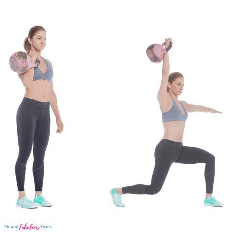 kettlebell killer body exercise lunge press fitness exercises workout