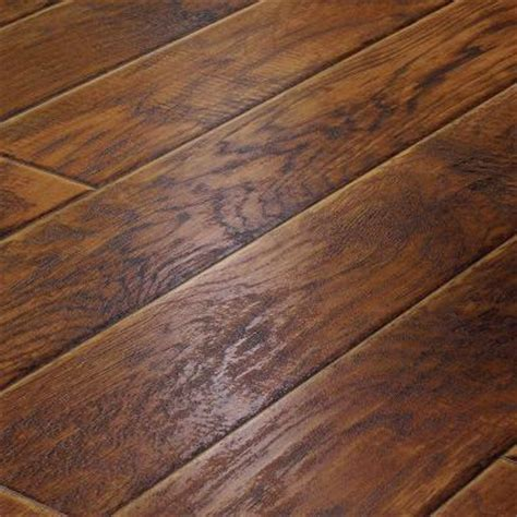 snap lock flooring home depot innovations hickory 8 mm thick x 11 1 2 in wide x