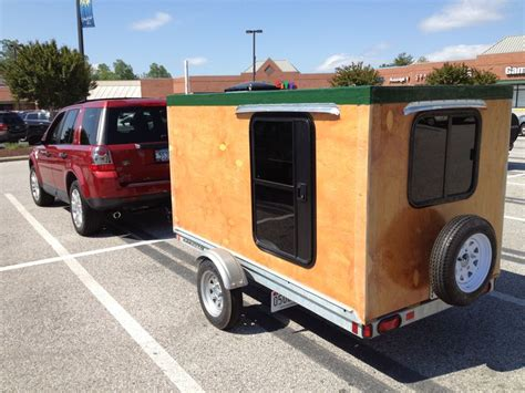 homemade camper   aerodynamic  lots  room   carry stuff camping