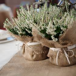 pew bows for wedding rustic wedding decoration burlap plant wrap with satin tie