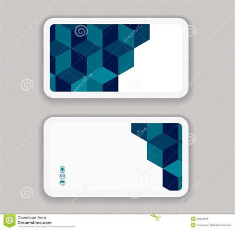 abstract modern business card design template royalty