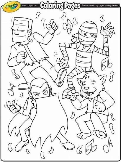 Coloring Pages Halloween Crayola Monster Dance Monsters