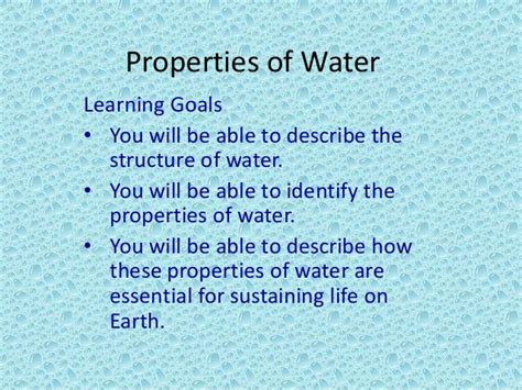 Properties Of Water Presentation