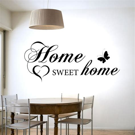Home Decor Decals by Home Sweet Home Wall Sticker Vinyl Decal Transfer Home