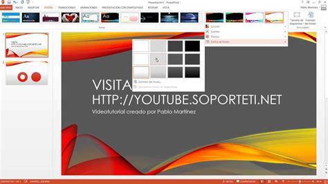 PowerPoint 2013 Cambiar el diseño de las presentaciones