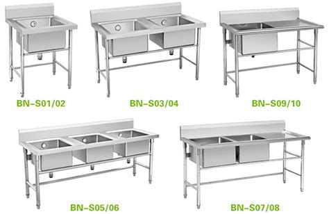 Industrial Kitchen Sinks Stainless Steel:three Compartment