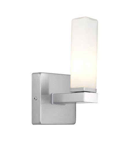 eglo palermo 1 light wall sconce in matte nickel 88283a