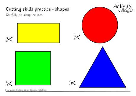 shapes for preschoolers to cut out cutting shapes 970