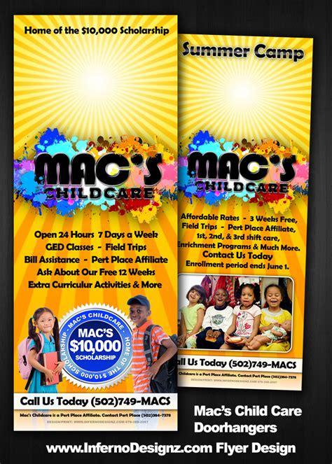 macs child care promotionsdoorhangers