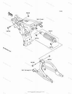 Kawasaki Motorcycle 2010 Oem Parts Diagram For Suspension