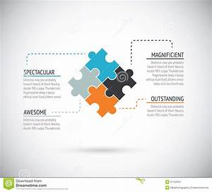 Puzzle Piece Infographics Business Concept Vector Stock