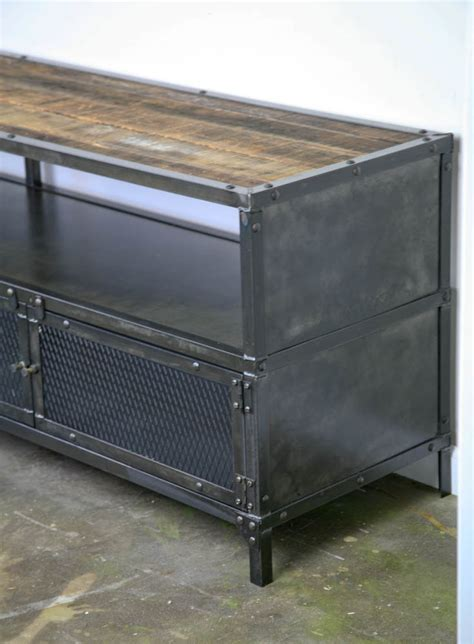 Combine 9   Industrial Furniture ? Media Console