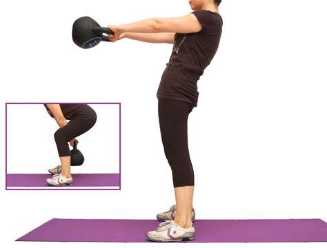exercise kettlebell fat burn minute step swing above right