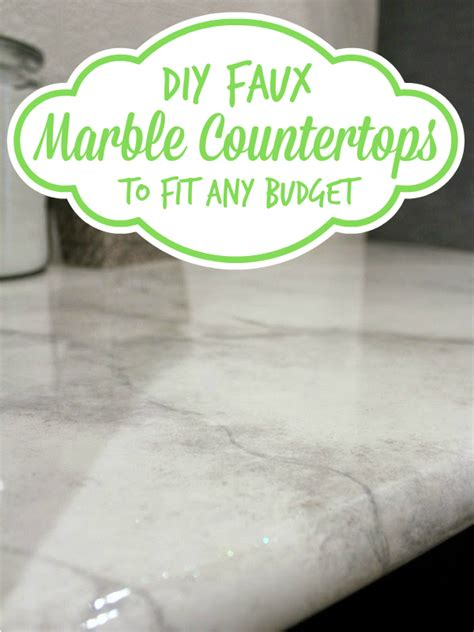 Faux Granite Countertop Prices by Diy Faux Marble Countertops Looks Like The Real Thing