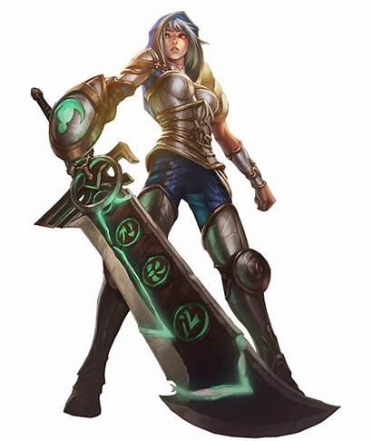 Riven Skin Legends Render League Deviantart Splashart