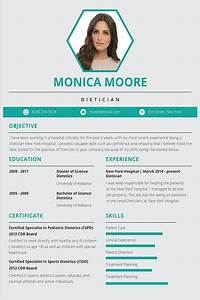 How To Do A Simple Resume Free Dietician Resume And Cv Template In Adobe Photoshop