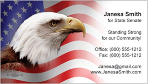 patriotic business cards candidate information cards