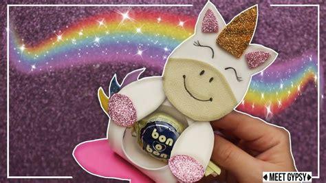 porta bombon unicornio en goma dulcero unicornio foami diy unic foamy tutoriales