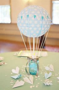 Hot Air Balloons Baby Shower Decorations
