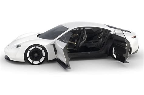 porsche electric mission e porsche mission e electric sports car has holograms