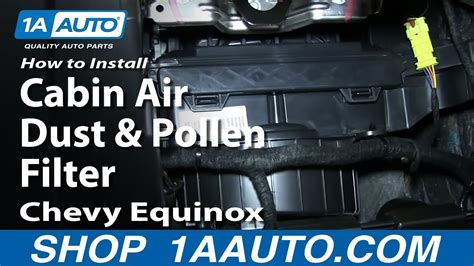 install replace change cabin air dust  pollen