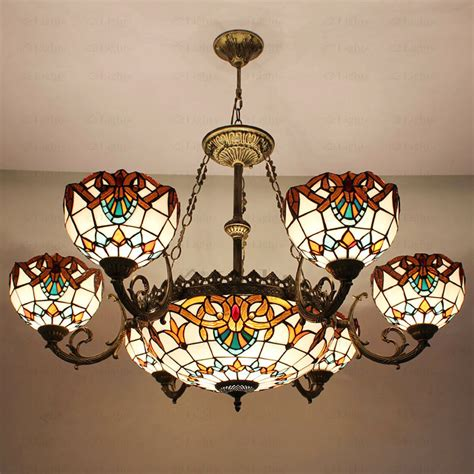 decorative light bulbs for chandeliers decorative 9 light stained glass shade tiffany style
