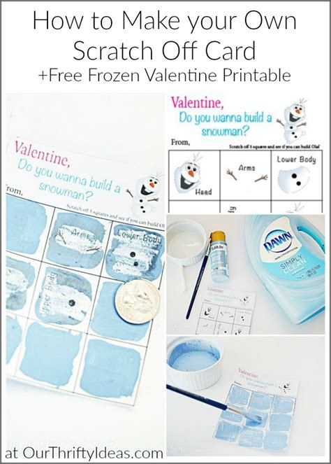 Do You Want To Build A Snowman  Diy Scratch Off Valentine