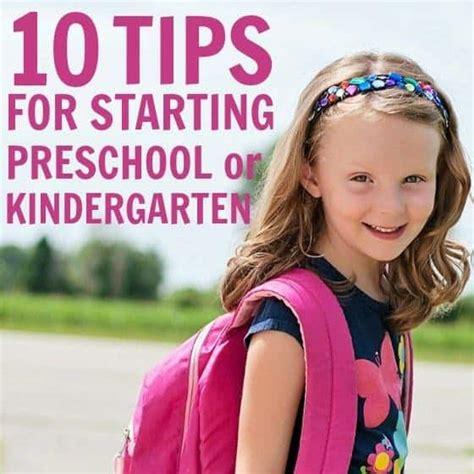 10 tips for starting preschool or kindergarten daily 952 | tips for starting preschool kindergarten