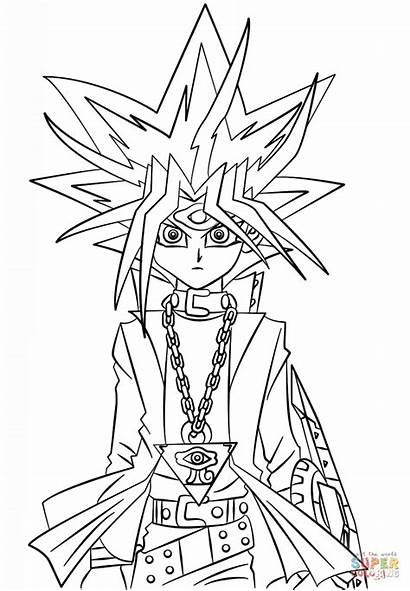Yu Gi Yugi Oh Muto Coloring Desenhos