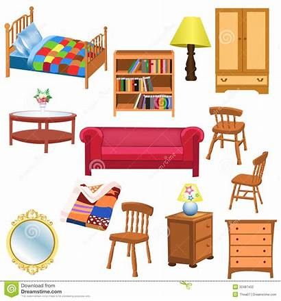 Furniture Living Bedroom Isolated Clipart Different