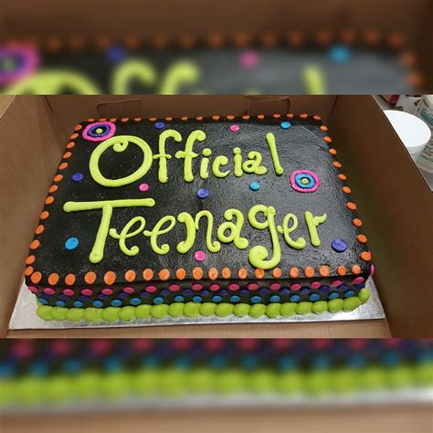 calumet bakery official teenager cake milestone birthday