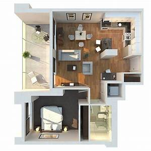 1 bedroom apartment house plans With plan of 1bed room flat